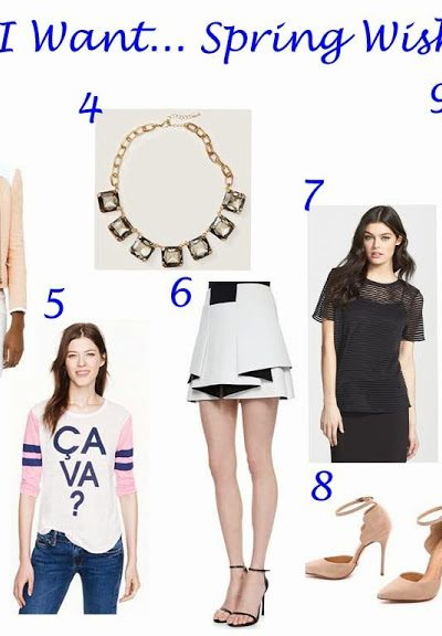 What I Want..Spring Wish Lists