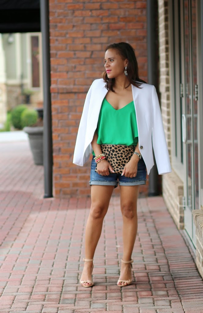 5cdcad501f9e How to Dress Up Jean Shorts - Nicole to the Nines