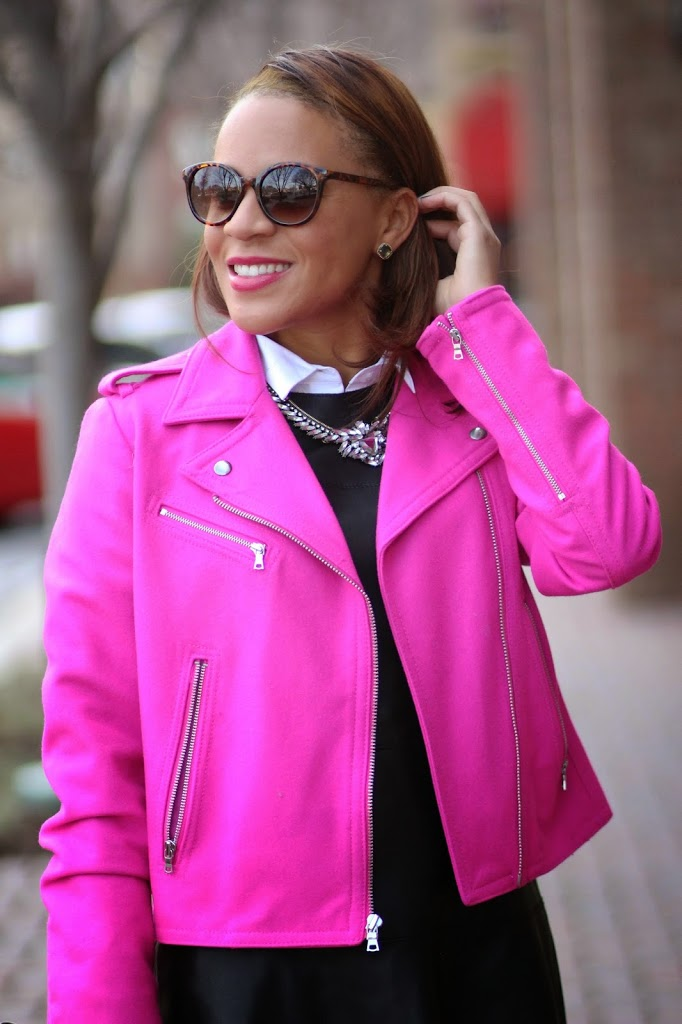 Pink Moto Jacket - Nicole to the Nines
