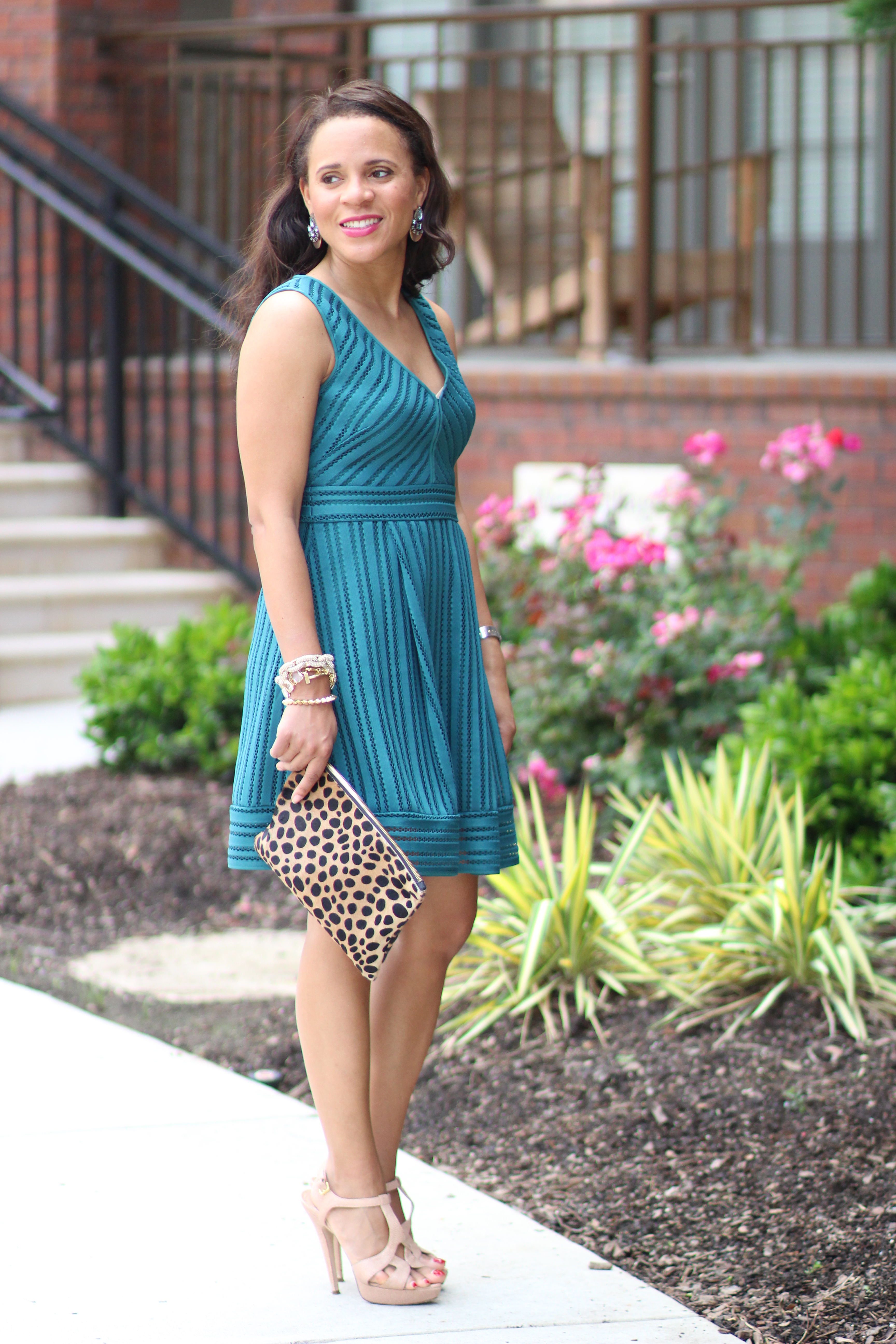 J Crew Striped Eyelet Dress - Nicole to the Nines