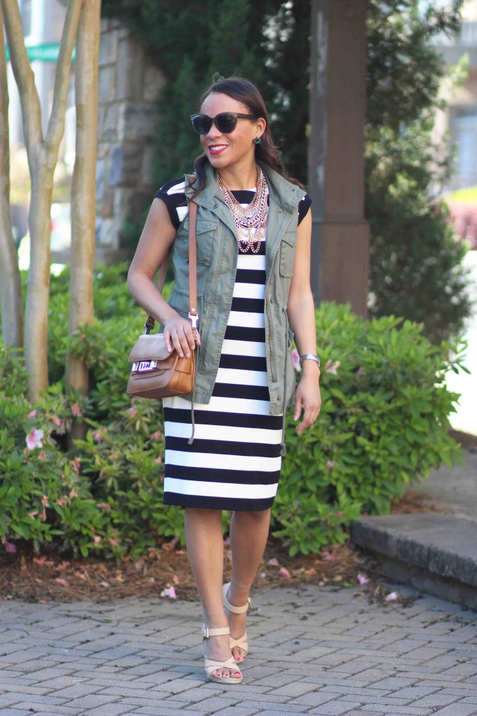 Banana Republic Striped Dress Nicole To The Nines