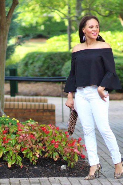 Asos Black off the Shoulder Top