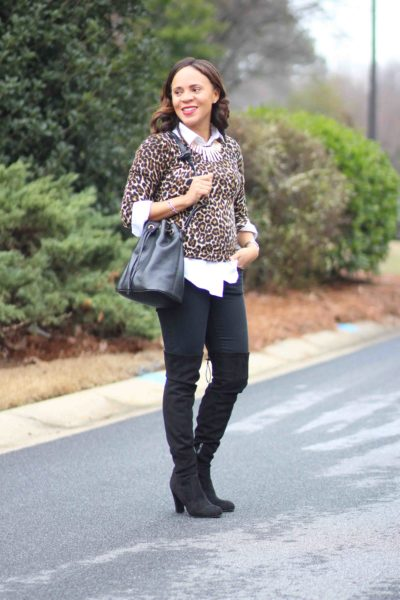 Black and Leopard Print