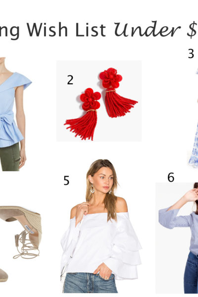 Spring Wish List Under $100 + Louboutin Giveaway
