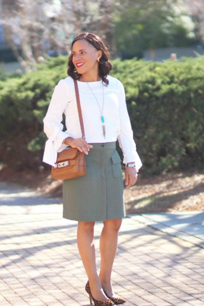 Ann Taylor Tie Sleeve Top + Louboutin Giveaway