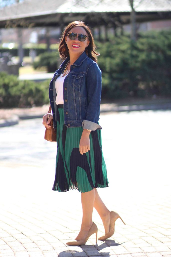 Ann Taylor Wave Pleated Skirt Nicole To The Nines