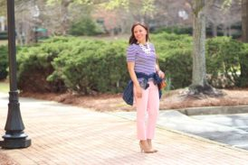How to Wear Blush Colored Pants