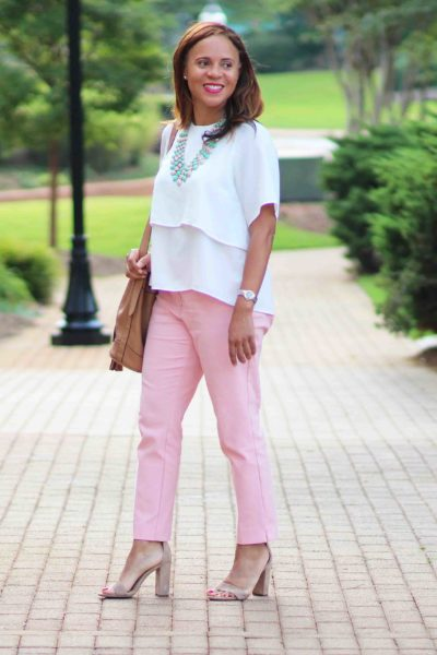 One Last Blush Pink Pants Outfit
