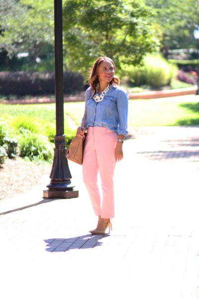 Transitioning Blush Pants to Fall