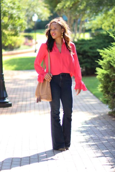 Ann Taylor Bow Sleeve Blouse