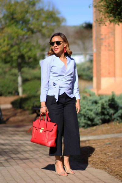 How To Wear Cropped Wide Leg Pants Ann Taylor Marina J Crew